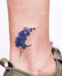 Blue Orchid Tattoo