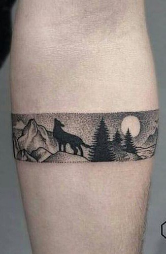 Bracelet Wolf Tattoo