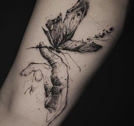 Butterfly Sketch Tattoo