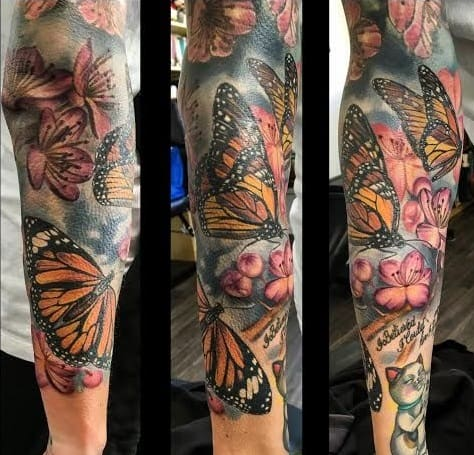 Butterfly Sleeve Tattoo