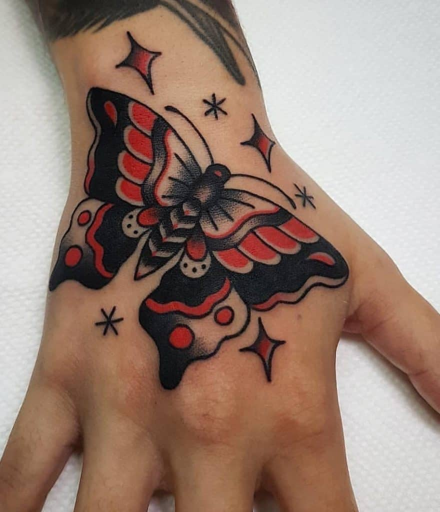 Butterfly Tattoo on the Hand
