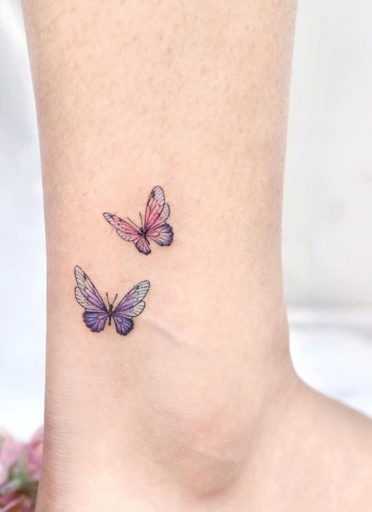 Butterfly Tattoo on Ankle