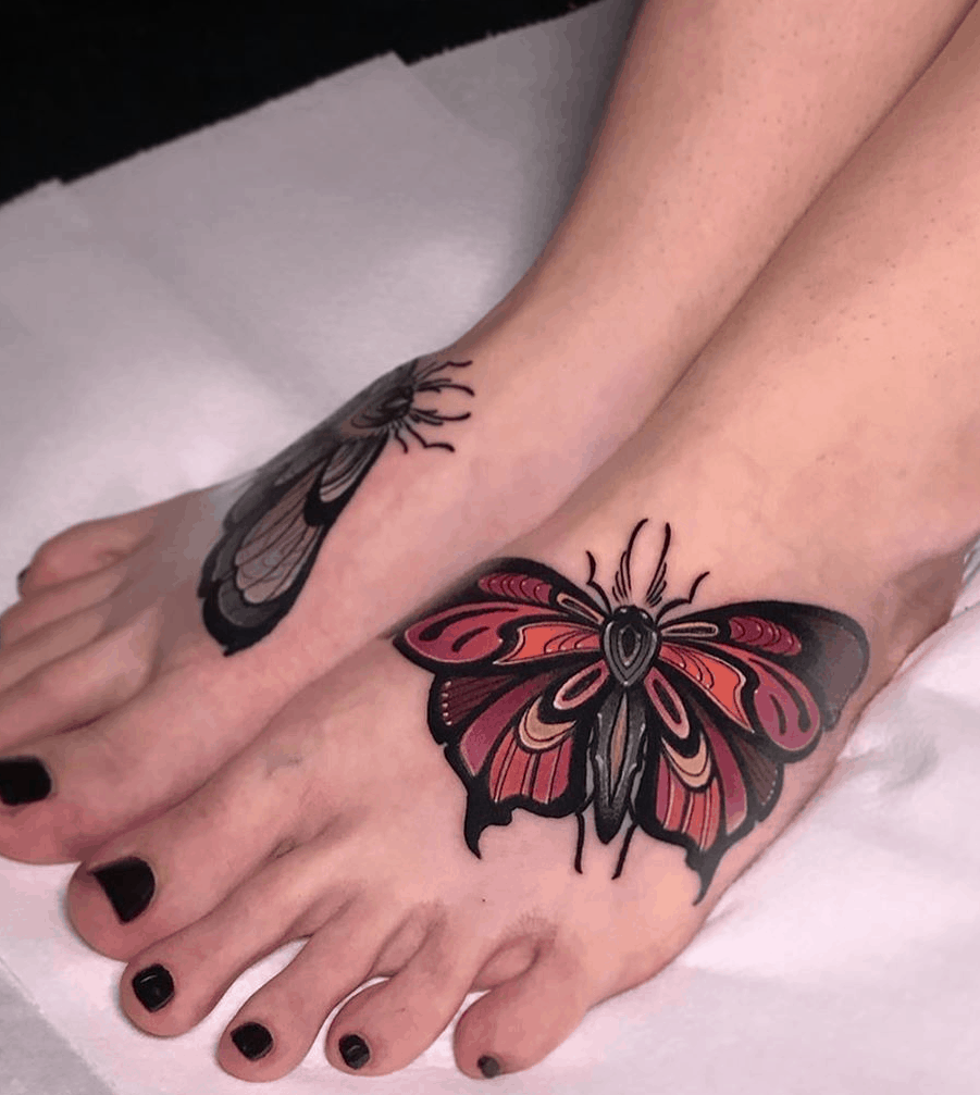 Butterfly Tattoo on the Foot