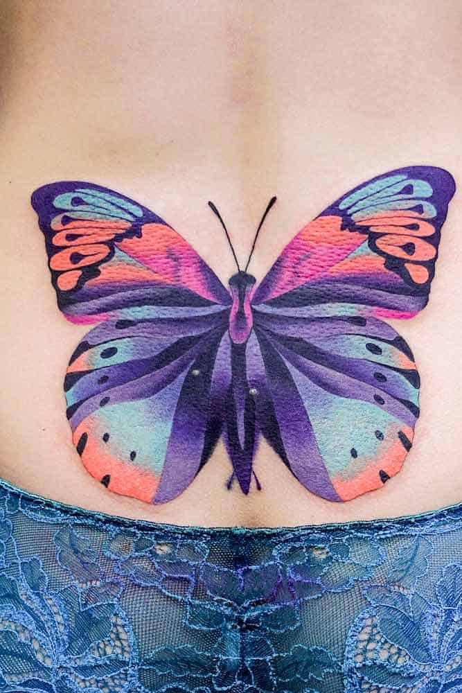 Butterfly Tattoo on the Lower-back