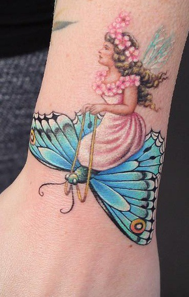 Butterfly Tattoo on the Wrist
