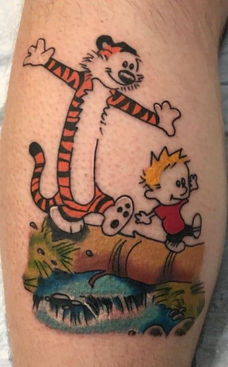 Calvin and Hobbes Tattoo