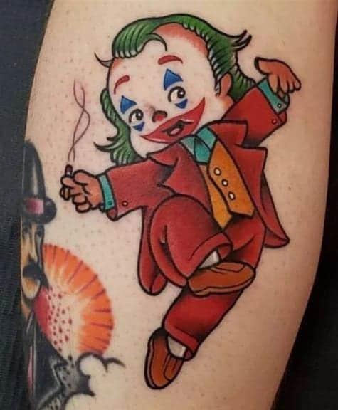 Cartoon Joker Tattoo