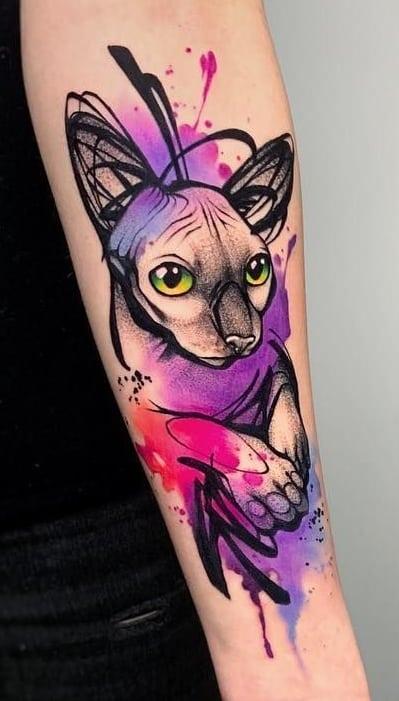 Cat Sketch Tattoo