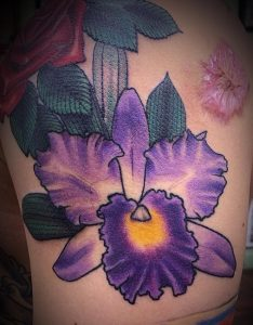 Cattleya Orchid Tattoo