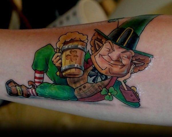 Chilling Leprechaun Tattoo