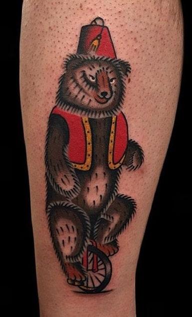Circus Bear Tattoo