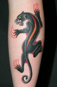Climbing Panther Tattoo