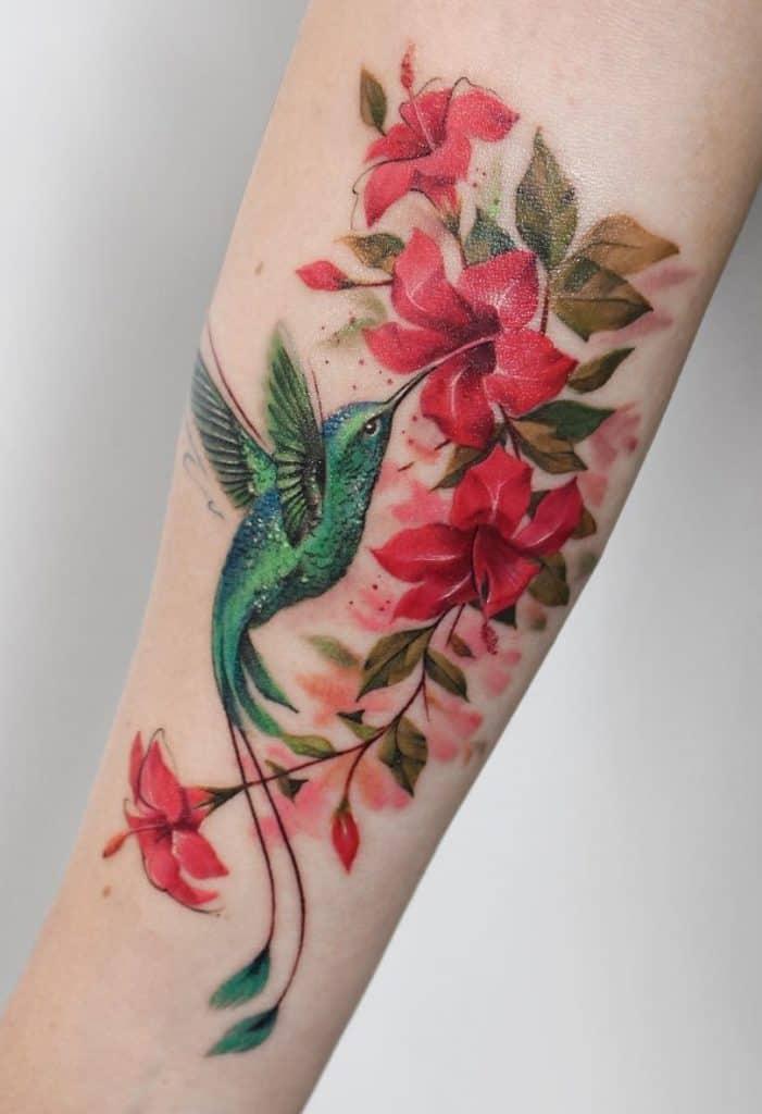 Color Hibiscus Tattoo