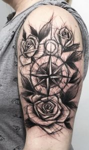 Compass And Rose Tattoo