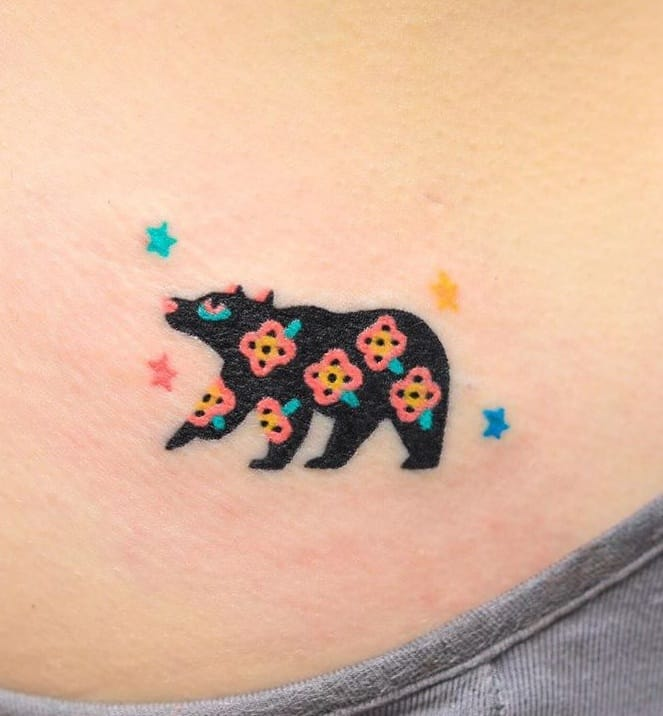 Contemporary Bear Tattoo