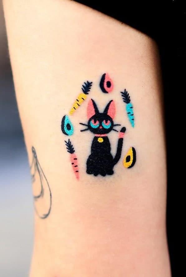 Contemporary Cat Tattoo