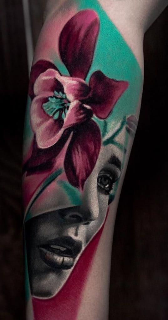 Contemporary Daffodil Tattoo