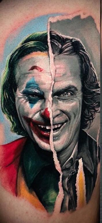 Contemporary Joker Tattoo