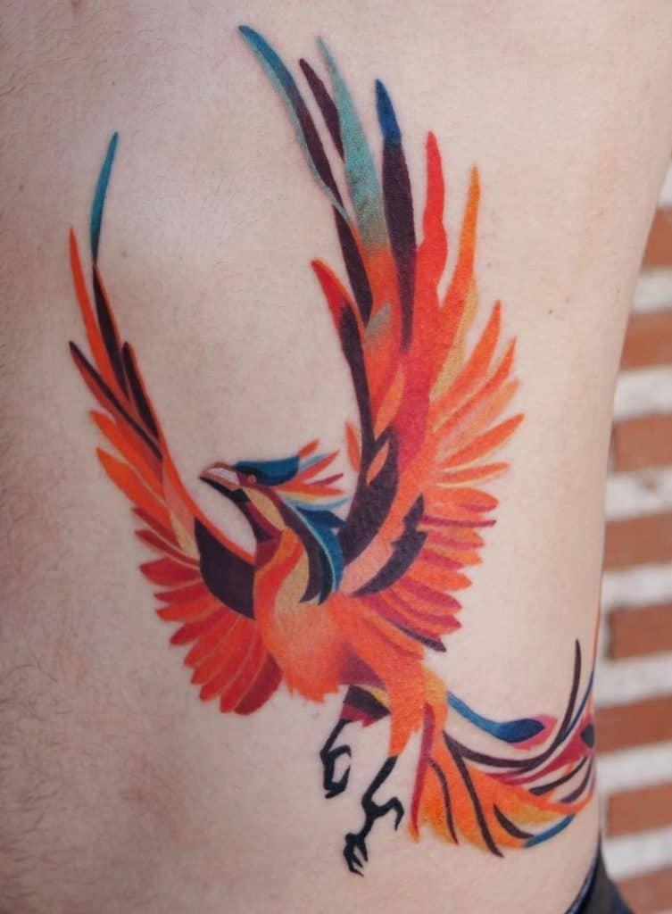 Contemporary Phoenix Tattoo