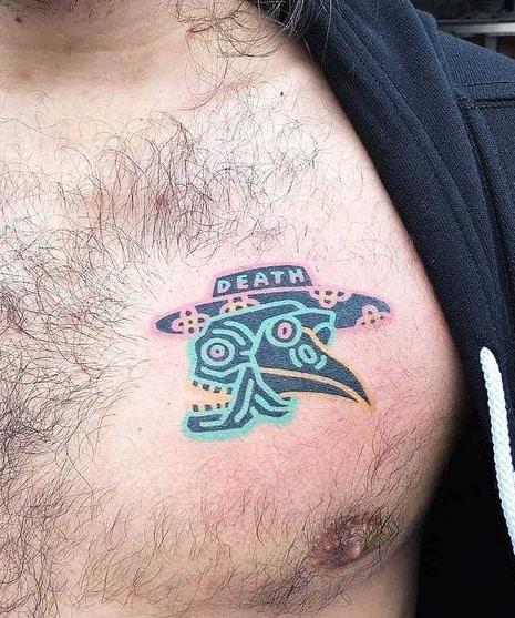 Contemporary Plague Doctor Tattoo