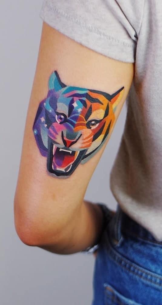 Contemporary Tiger Tattoo