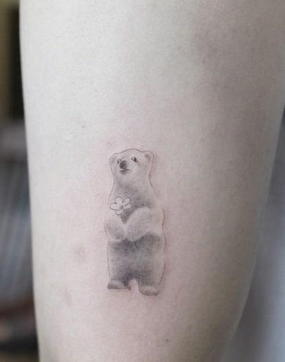 Cute Bear Tattoo