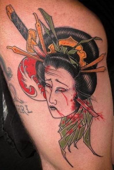 Dead Geisha Tattoo