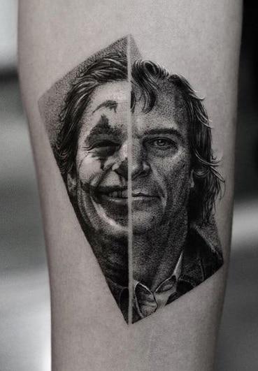 Dot-work Joker Tattoo