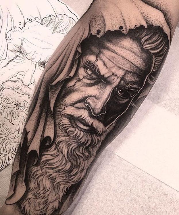 Dot-work Odin Tattoo