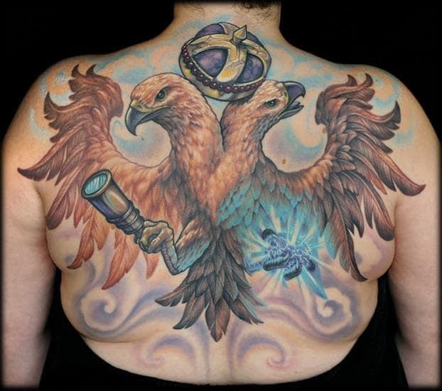 Double Headed Eagle Tattoo