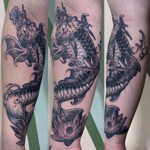 Dragon Koi Fish Tattoo