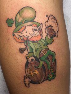 Drunk Leprechaun Tattoo