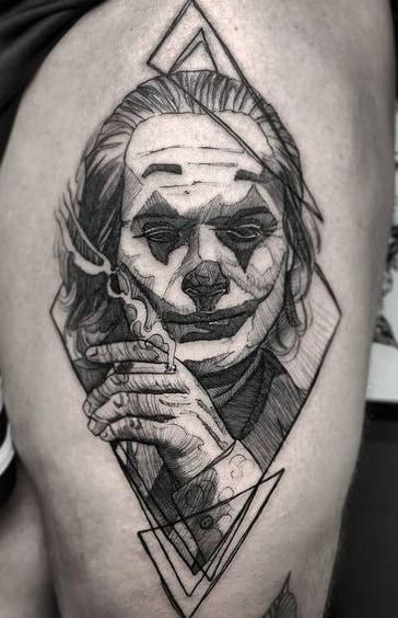 Etching Joker Tattoo