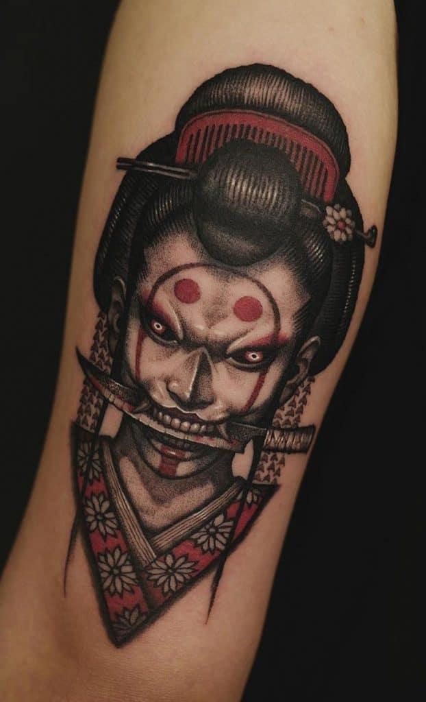 Evil Geisha Tattoo