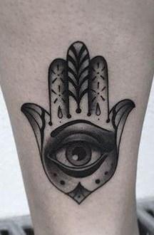 Eye of Hamsa Tattoo