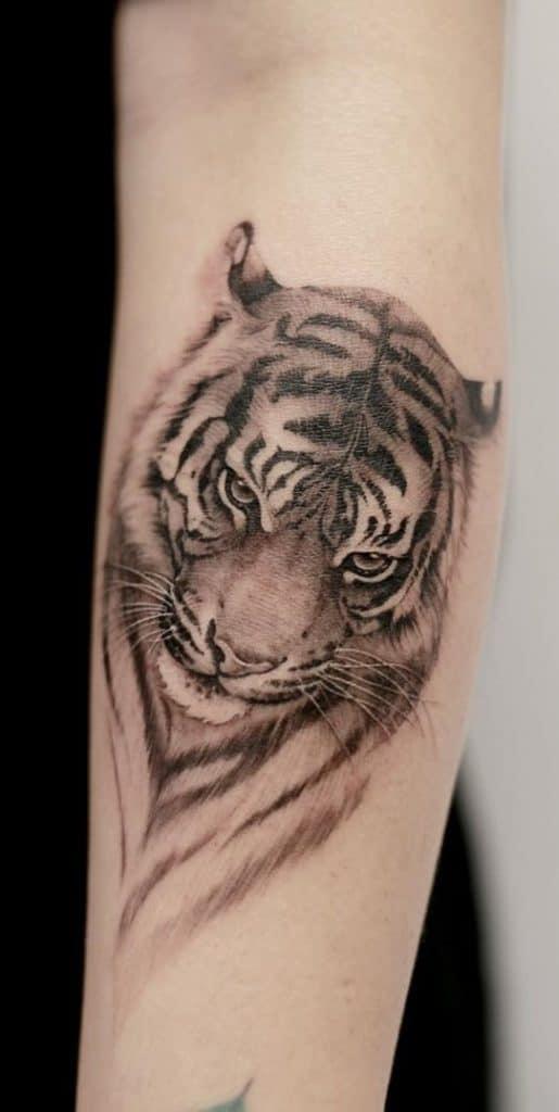 Forearm Tiger Tattoo