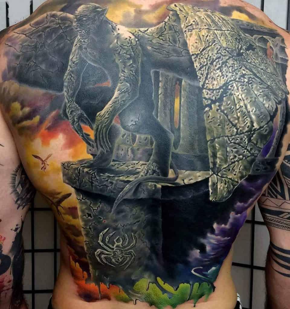 Gargoyle Tattoo on Back