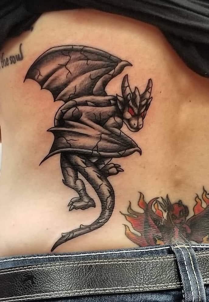 Gargoyle Tattoo on Lower Back