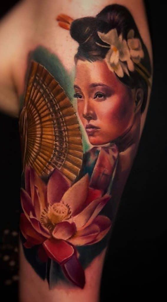 Geisha Portrait Tattoo