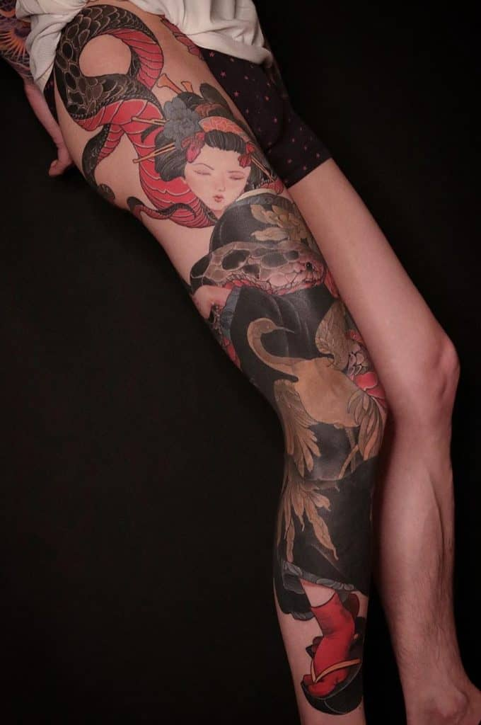 Geisha Tattoo Sleeve