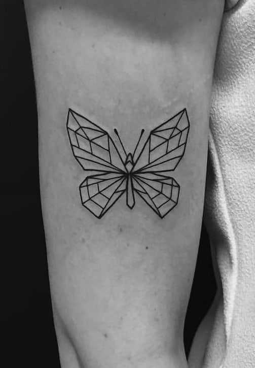 Geometric Butterfly Tattoo