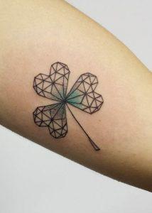 Geometric Shamrock Tattoo