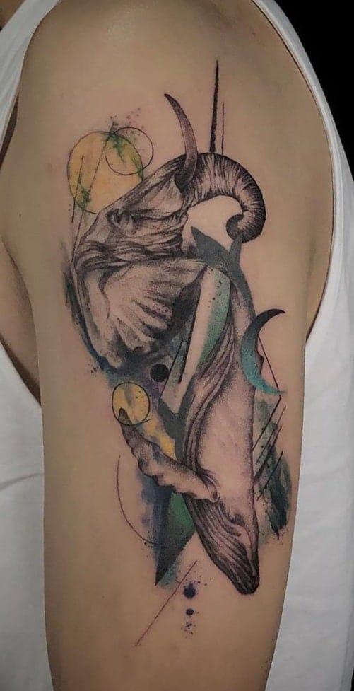 Graphic Elephant Head Tattoos