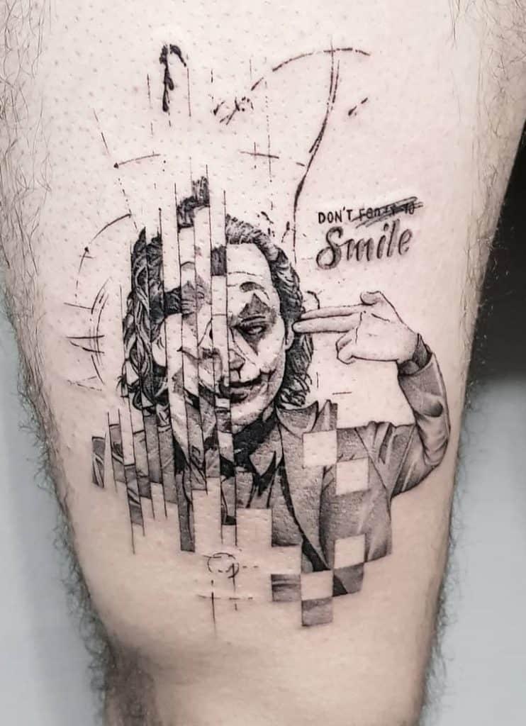 Graphic Joker Tattoo