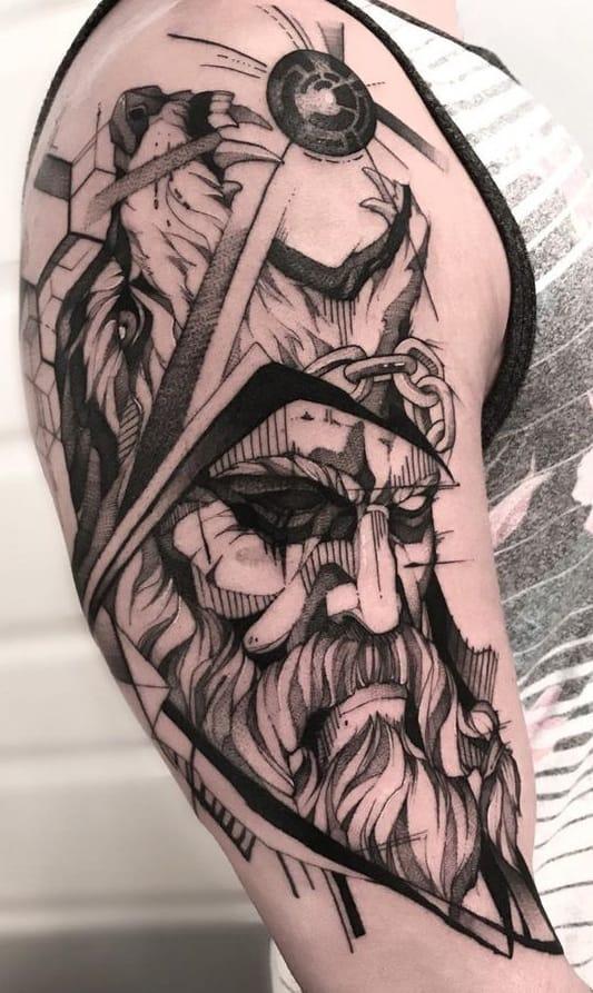 Graphic Odin Tattoo