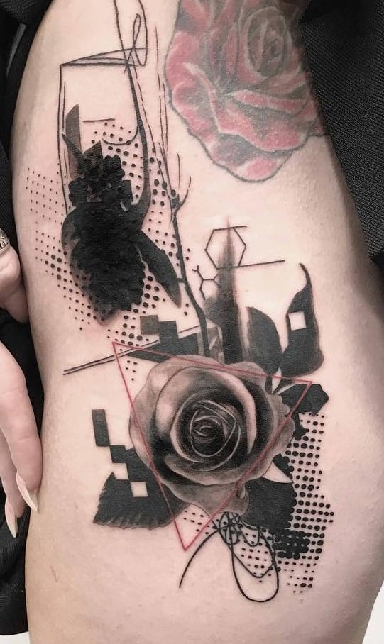 Graphic Sketch Tattoo