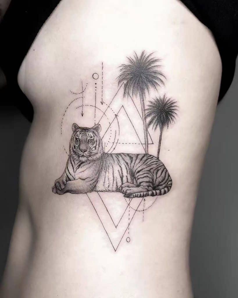 Graphic Tiger Tattoo