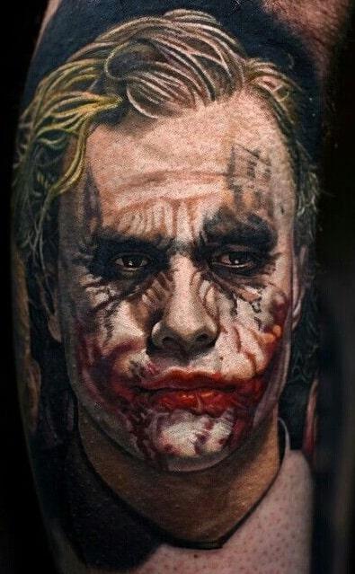 Heath Ledger Joker Tattoo