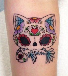 Hello Kitty Sugar Skull Tattoo