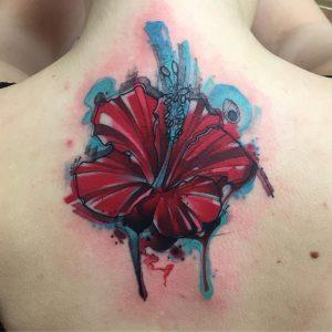 Hibiscus Sketch Tattoo